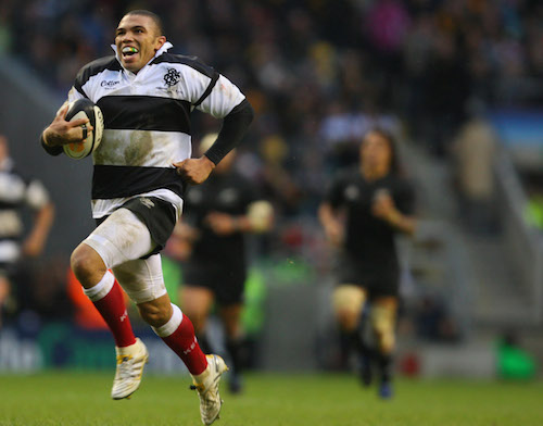Bryan Habana races away to score his second try