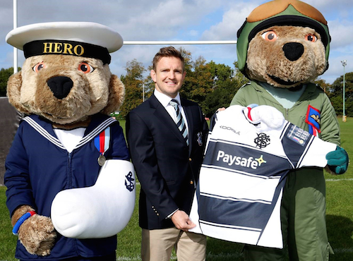 Rory Lawson and the Help for Heroes mascots