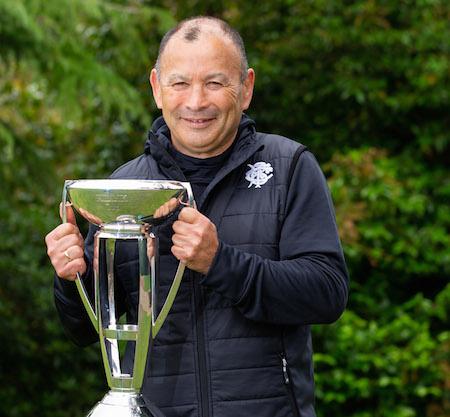 Eddie Jones and cup