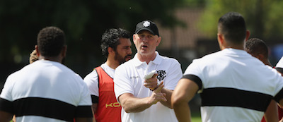 Vern Cotter at Barbarians training