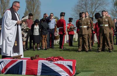 The burial of Captain HJI Walker